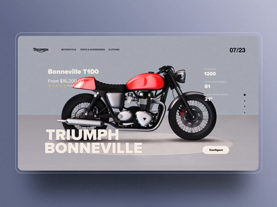 TRIUMPH Motorcycle customizer page
