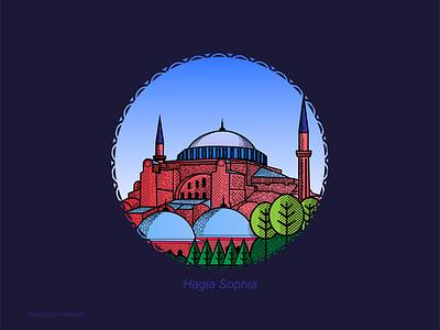 Hagia Sophia vector illustration hagia sophia