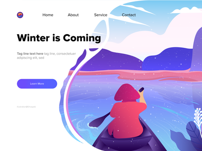 Winter is Coming! ui design ui illustration art vector illustration