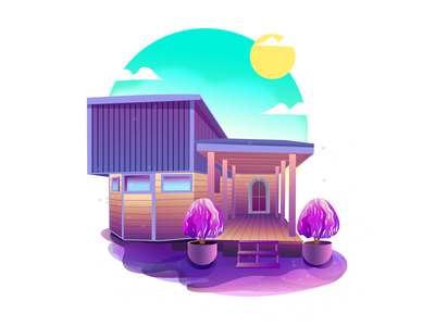 CONTAINER HOUSE illustration illustration art vector