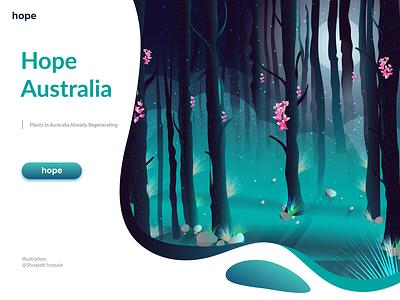 Hero image Illustration Plants in Australia Already Regenerating australia illustration art illustration