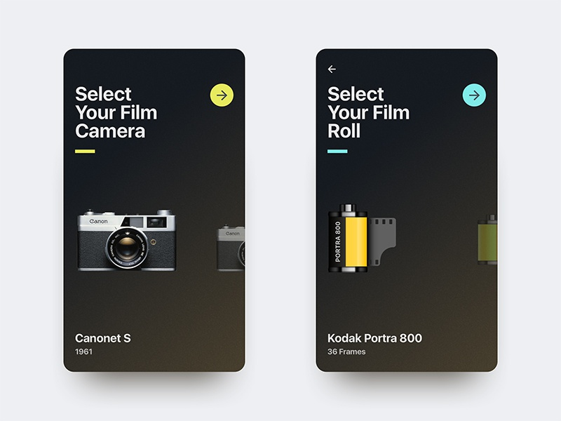 Film Camera App Concept indonesia jakarta android ios interface design app mobile film photography camera debut ui ux