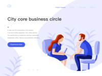 Illustration/City Core Business Circle