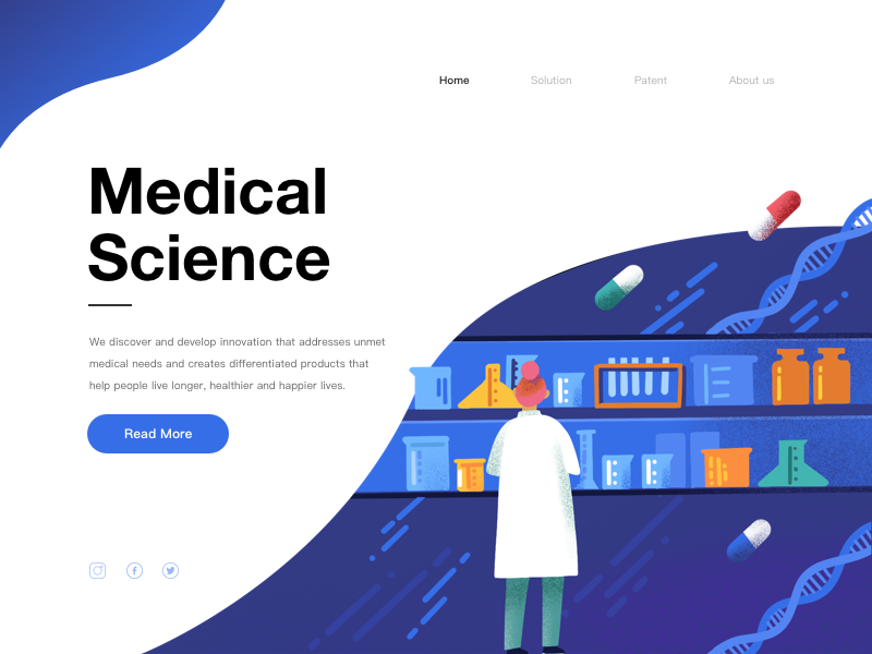 Illustrations/Medical Science1 web space illustration design community colour characters