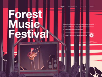 Illustration/Forest Music Festival