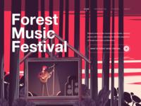 Illustration/Forest Music Festival
