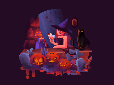 Illustration/Helloween helloween light festival design color painting character illustration