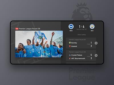 PPsports Player Design score card player ui soccer app app ui design