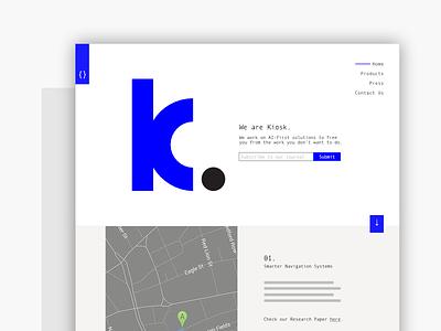 Minimal UI - Kiosk minimal web interface ux ui