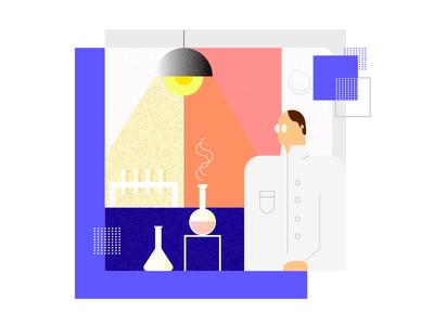 Scientist Illustraion
