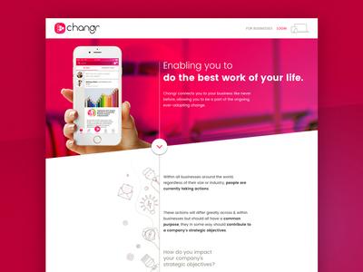 Changr promotional website (2016)