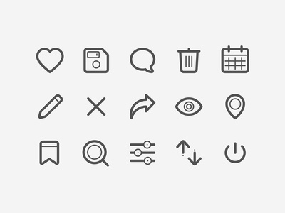Payetafacture.com Icons set