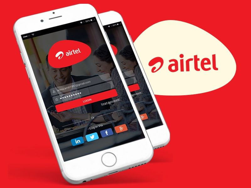 Login Screen ReDesign for Airtel Mobile App by Amit Choudhary on