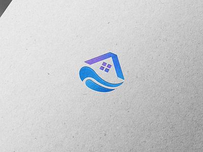 Apartment on the sea 💙 vector branding design summer vacation apartment graphic design sea logo