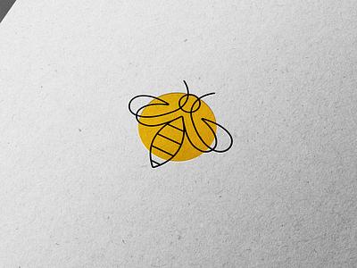 Bee Logo 🐝 minimalistic minimal beekeeping smart bee vector illustration branding graphic design design logo