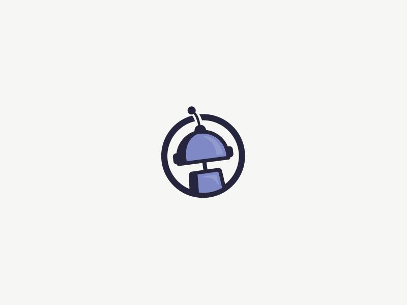 Robot illustrator illustration design logo robot