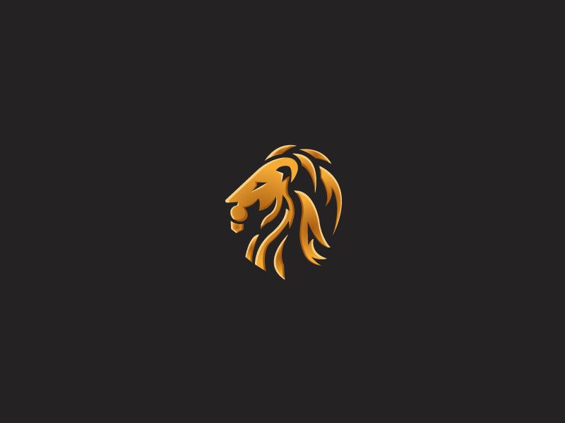 Lion illustrator design logo lion
