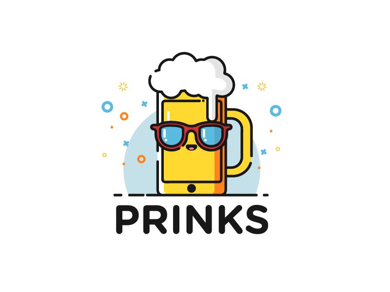 Logo for an beer game mobile app app icon mobile app cartoonish illustration beer logo