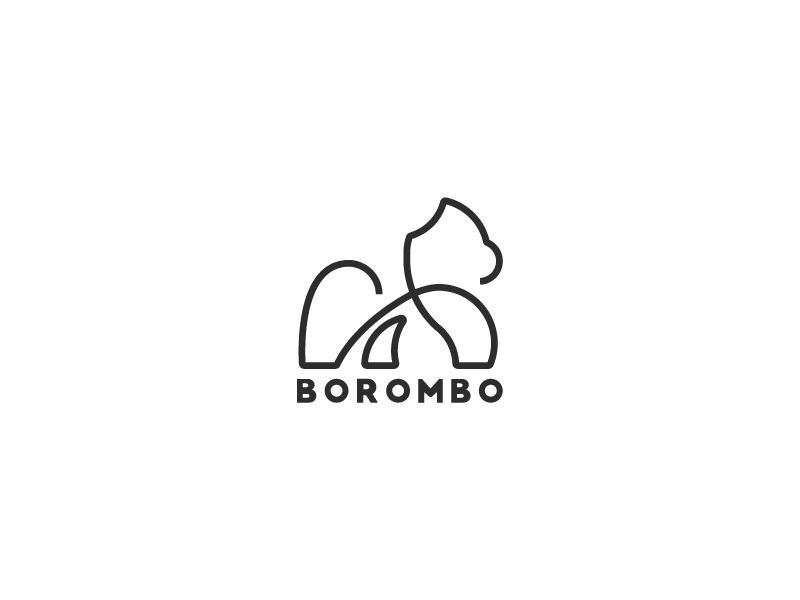 Borombo illustration graphic design animal logo minimalistic logo logo