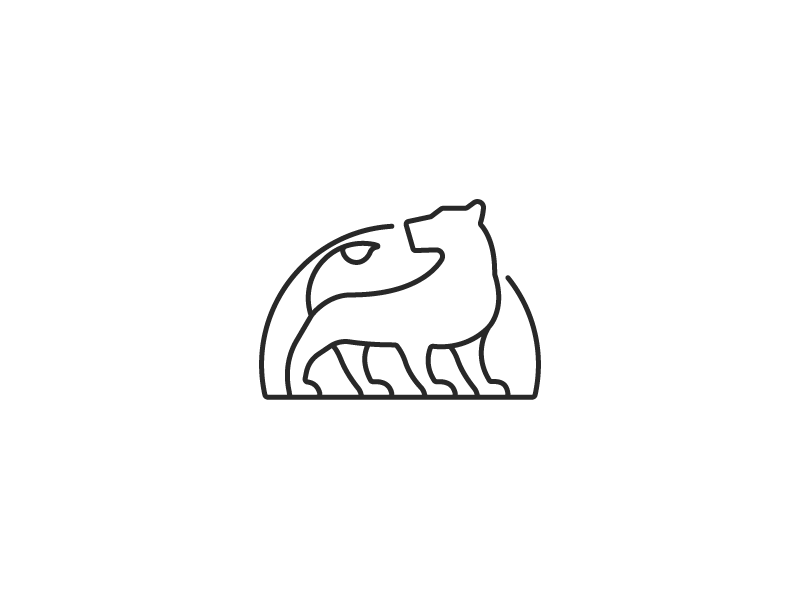Lioness simple minimalistic lined outline lion lioness logo design graphic illustrator