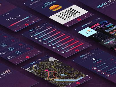 Roadboss app concept gamification user interface ui app design