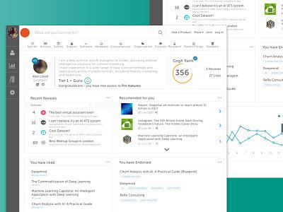 Profile page concept web design ux dashboard profile graph user interface