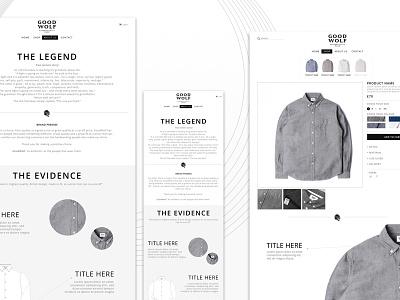 Goodwolf eCommerce fashion eshop user interface responsive clothing design ux ui ecommerce
