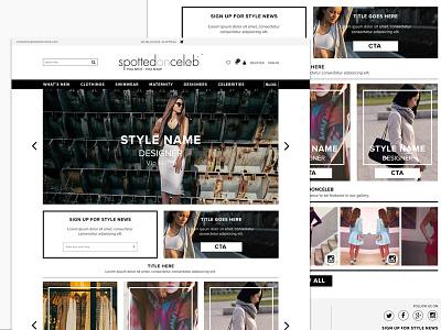eCommerce for Spottedonceleb.com eshop user interface responsive clothing design ux ui ecommerce