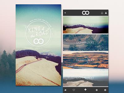 App design photos bold design typography ux ui app design