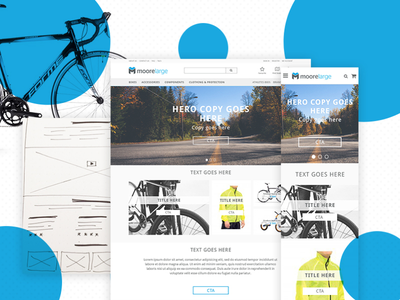 Moore Large - Cycling eCommerce ui ux mobile ecommerce bike cycling cyclist e-shop b2c b2b minimal ecommerce
