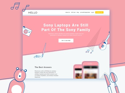 Splash Page - Wip solid colours ui illustration icons pink wip landing page