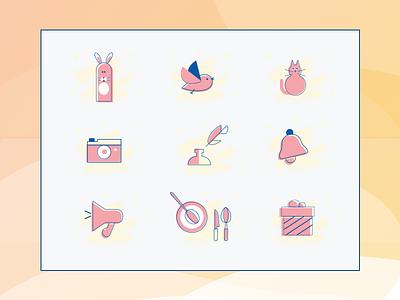 Bespoke Icons bluepink animals flat icon kit ui duotone pink bespoke icon illustration design icons