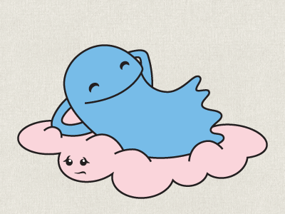 Dribbble 02 clouds are friends rest