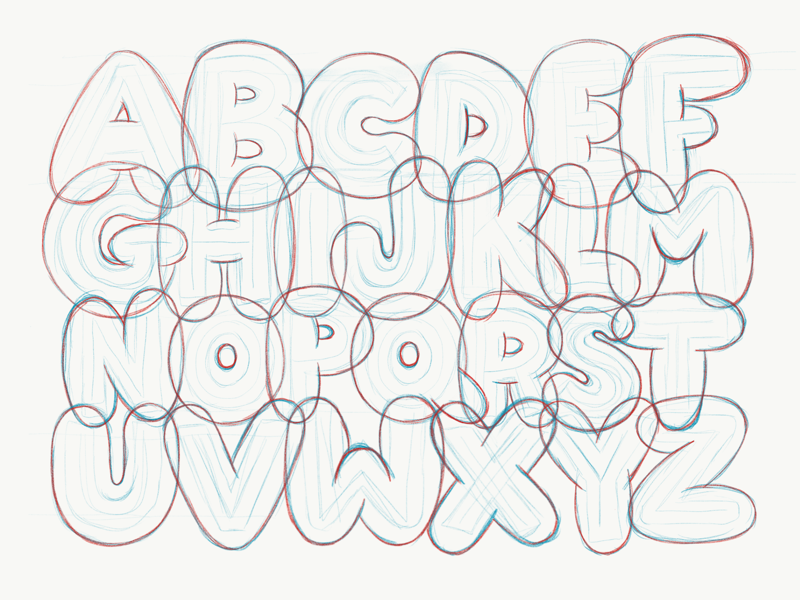 the alphabet in bubble letters letters sketch by kuehnle dribbble dribbble 11818