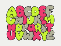 Inked Bubble Letters