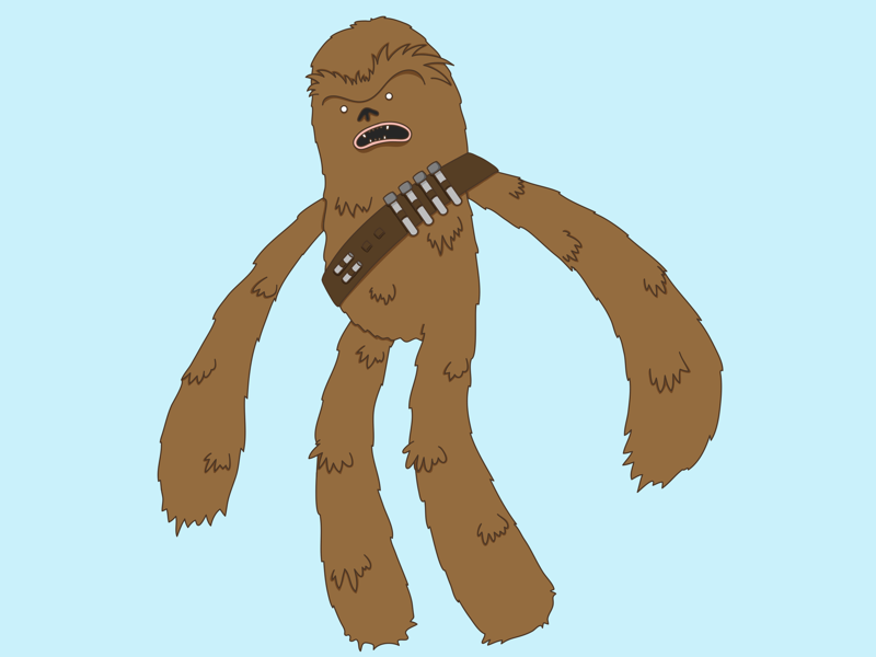 May the fourth be with you chewie star wars vector illustration character character design