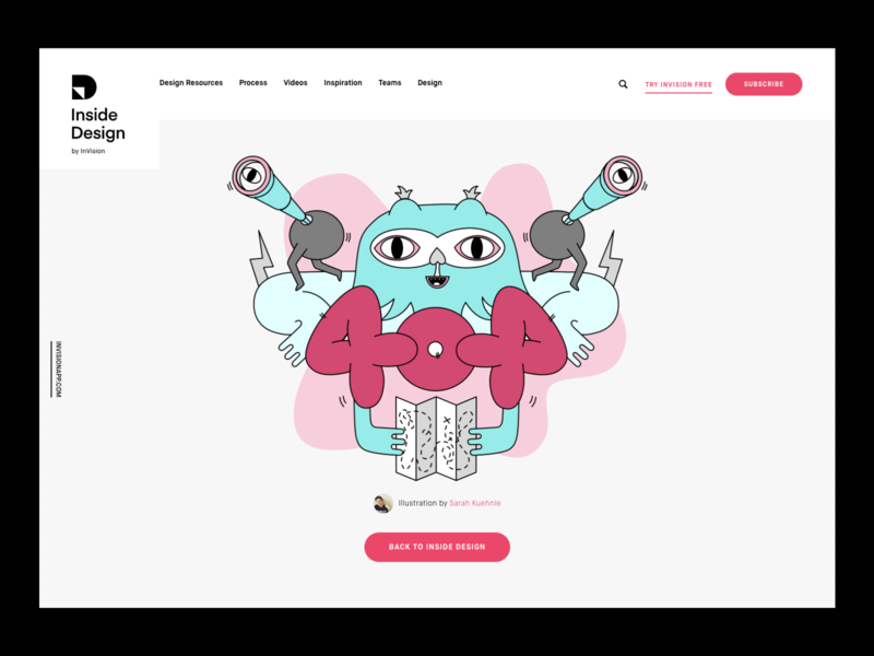 InVision Inside Design - 404 Illustration vector invision 404 apple pencil ipad pro illustration character design character