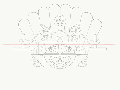 Feast of the Gods vector illustration character design character