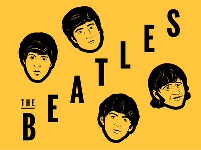 The Beatles poster the beatles band music vector beatles illustration