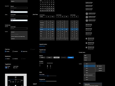 Windows 10 UI Kit for Sketch ui kit windows 10 metro interface vector gui sketch