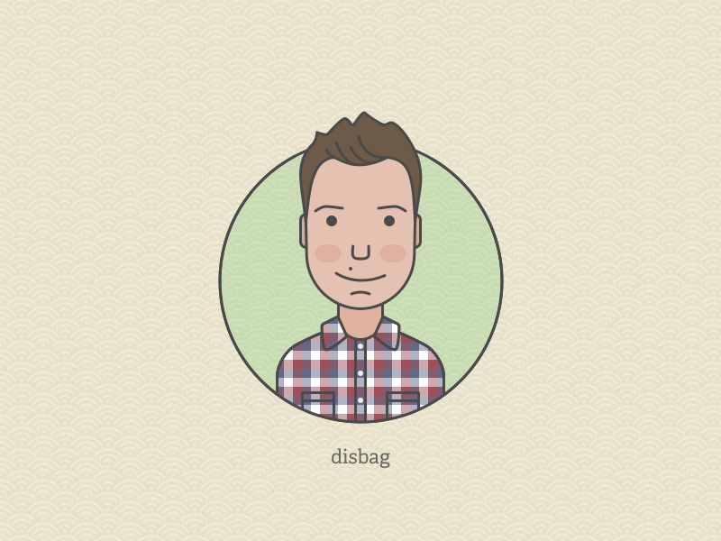 Avatar personal icon flat face vector illustration character avatar