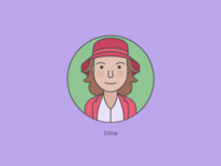 Irina avatar character illustration vector face flat icon personal female