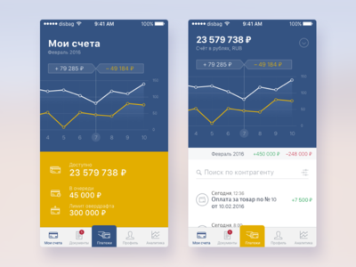 Concept of Banking App finance credit card cash banking account statistic graph money bank interface ios10