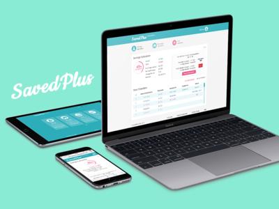 SavedPlus banking account interface ios10 wallet cms money calc finance