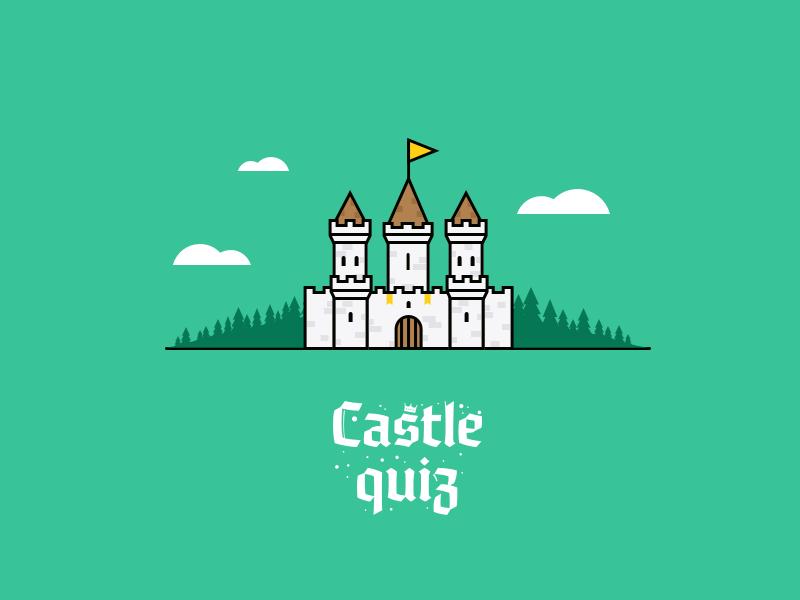 Castle Quiz education forest ios10 vector quiz illustration castle game