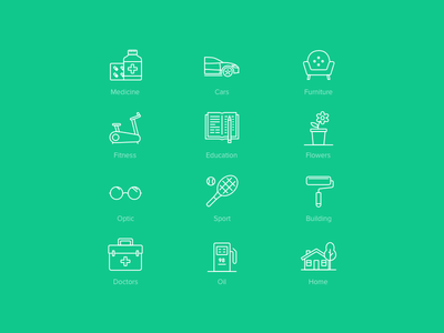 Active Age Icons Pack 2 home flower doctor glyph icons ios pack fitness furniture cafe car medicine