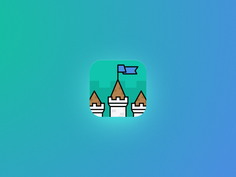 Castle Quiz App Icon icon quiz iphone ios10 illustration game education castle