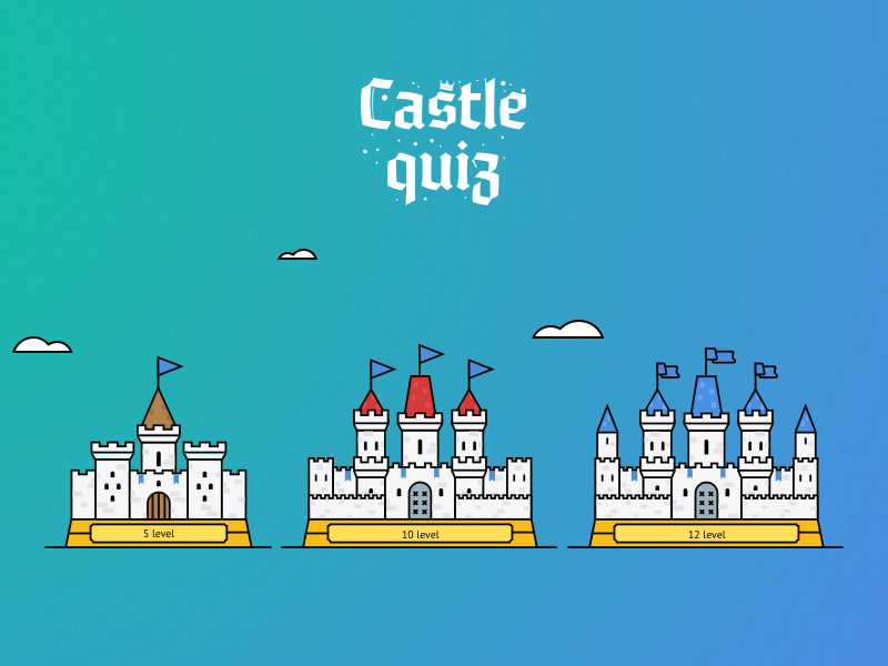 Castle Quiz — Castles for Game android quiz iphone ios11 illustration game education castle
