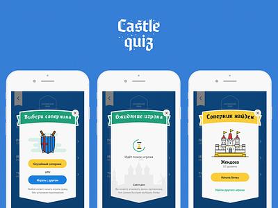 Castle Quiz — Game Design interface popup castle education game illustration ios11 iphone quiz android