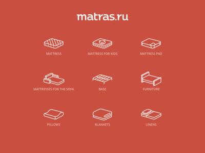 Matras.ru Icons vol.2 icons sofa bed dream sleep mattress linear pillow blanket furniture